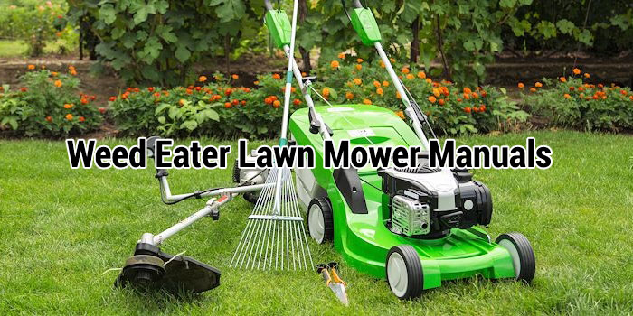 Weed Eater Lawn Mower Manuals