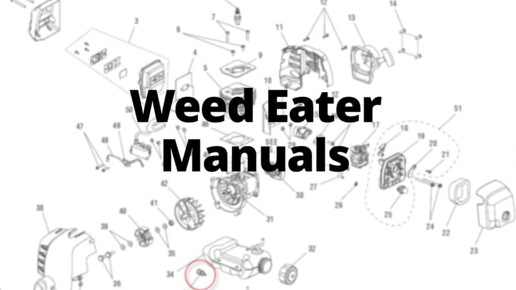 Weed Eater Lawn Mower Manuals, Care Guides, and Literature Parts
