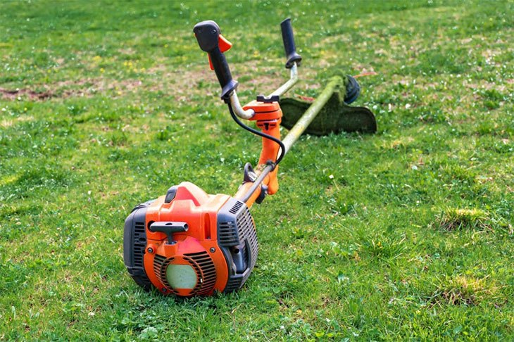 how to use a weed eater to edge