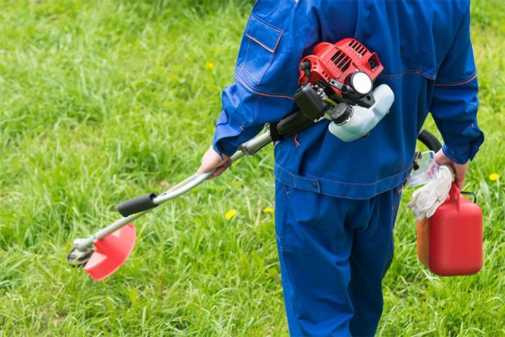 how to use a weed eater to cut grass